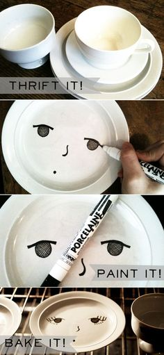 I just bought a porcelain pen and some mugs...but the faces are an interesting twist, no?