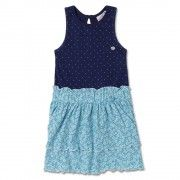 Meet this season of flowers with this new floral magic with polka cheering frock from FS Mini Klub. Back open, flaired layers of floral print & sleeveless polka dotted top are the embellishments of this new trendy frock. pair it along with a pair of ballerinas to make the complete clothing picture perfect.