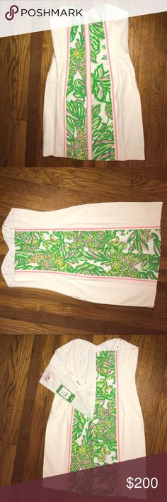 Strapless, new w/ tag, Lilly Dress! Strapless, sweetheart, style Lilly Pulitzer, summer dress. NEVER WORN & new with tags. Lilly Pulitzer Dresses Strapless