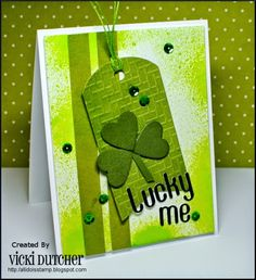 All I Do Is Stamp-- Designs by Vicki Dutcher: Just Us Girls #284 and Addicted to CAS #59