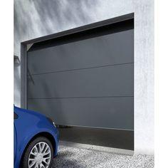 Porte de garage sectionnelle Londres grise - CASTORAMA