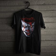 Pennywise Face Cosplay Halloween Costume T-Shirt Men/'s Unisex Shirt