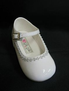 $22.99 Clear Rhinestones Infant Toddler Baby Girls Dress Shoes Pageant Wedding Ivory | eBay