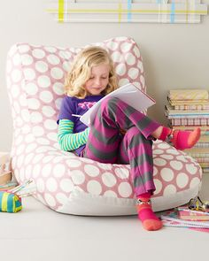 Beanbag Lounge Chair. Toddler ...  sc 1 st  Pinterest & DIY: Sew a Kids Bean Bag Chair in 30 Minutes | Pillows/Pouffes ...