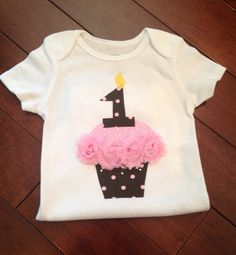 Birthday Girl Pink Cupcake Shirt OTHER NUMBERS available on Etsy, $17.00