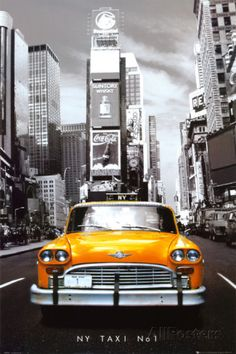 Taxi n. 1 a New York, in inglese Foto su AllPosters.it