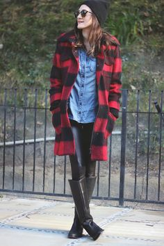 8a9a374525e4 Alice + Olivia Coat old (similar here + here )    Topshop Leggings    Gap  Shirt    Boots (similar here and here )    Ra.