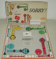 1964 Vintage Parker Brothers Sorry Board Game Complete