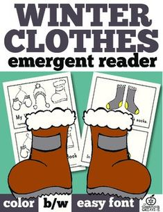 This winter emergent reader is so cute! What I wear in winter.