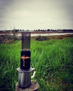This mornings backyard view. Ciscos Supreme Blend x aeropress Vs. Moyne River x Port Fairy.  Plunger ground for sweetness and mild acidity. Very very tasty and comforting. Ideal way to start a Sunday. #ciscoscoffeeroasters #aeropress #pfff #moyneriver #portfairy #portfairyfolkfestival #specialtycoffee #specialtyroasters #coffee by keirtar