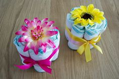 Diapers centerpiece - Centrotavola di pannolini