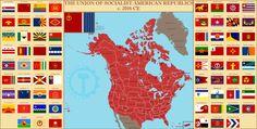 Flag Art, Fantasy Map, Alternate History, Country Art, Art History, Marvel, America, Flags, Countries