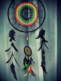 another dream catcher. //making this for my nanas bday! Los Dreamcatchers, Beautiful Dream Catchers, Beautiful Mind, Rich Kids Of Instagram, Medicine Wheel, Peaceful Places, Sun Catcher, Hippie Style, Wind Chimes