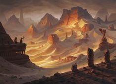 Amonkhet MtG Art - Art of Magic: the Gathering Concept Art Landscape, Fantasy Art Landscapes, Fantasy Concept Art, Fantasy Landscape, Landscape Art, Landscape Materials, Fantasy City, Fantasy Places, Fantasy Kunst