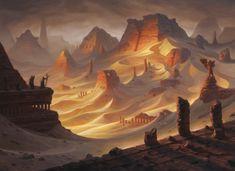 Amonkhet MtG Art - Art of Magic: the Gathering Concept Art Landscape, Fantasy Art Landscapes, Fantasy Concept Art, Fantasy Landscape, Fantasy Artwork, Landscape Art, Landscape Materials, Fantasy City, Fantasy Places