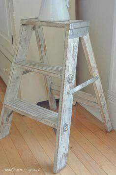 Step Ladder Vintage Small Wooden Folding Step Stool