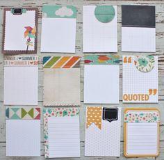 Mish Mash: July Gossamer Blue....handmade journaling cards using Simple Stories