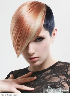 Two Tone Glam Hair Style. I like the color contrast.
