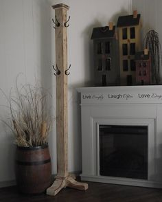 Primitive Distressed Standing Coat Rack on Etsy, $82.17