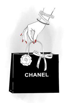 Chanel Hand Canvas Artwork by Martina Pavlova Fashion Artwork, Fashion Wall Art, Chanel Wallpapers, Cute Wallpapers, Canvas Artwork, Canvas Art Prints, Chanel Wall Art, Buch Design, Wallpaper Iphone Cute