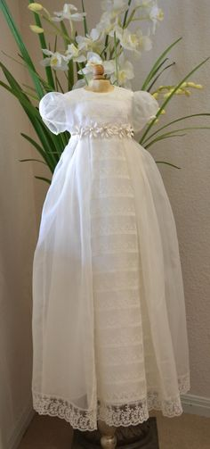 Baptism Gown Christening Gown Heirloom Gown by CouturesbyLaura