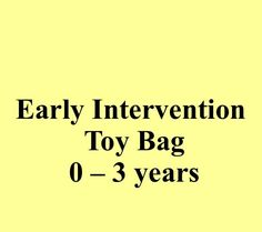 Early Intervention Toy Bag: SLP and Parent Activities for Children 0-3 years old.