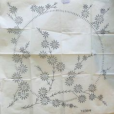 HUGE VTG iron on embroidery transfer (eci) Iron On Embroidery, Hand Embroidery Tutorial, Embroidery Flowers Pattern, Creative Embroidery, Embroidery Transfers, Hand Embroidery Patterns, Vintage Embroidery, Embroidery Stitches, Corset Sewing Pattern