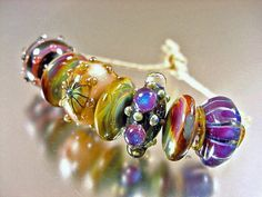 Handmade lampwork glass beadsWICKEDSRA by AvasBeadGarden on Etsy