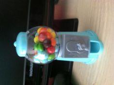 Mini gum ball machine. $1 at Walmart! Refillable! Party idea, locker idea, skittles, m & ms,  and small candies!
