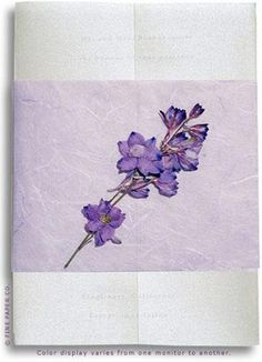 Wedding Invitation With Pressed Flowers Pressed Flower Art