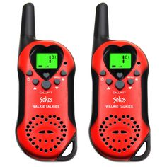 Walkie Talkies, 22 Channel Child Walkie Talkies 2 Way Radio 3 Miles (Up to UHF Handheld Walkie Talkie for Kids (Pair) (Red) Radios, Keypad Lock, Radar Detector, Recording Equipment, 2 Way, Gps Navigation, Elite Socks, Walkie Talkie, Toys For Girls