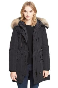 Moncler 'Arriette' Down Insulated Parka with Genuine Fox Fur Ruff