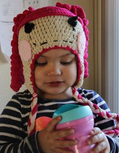 Owl Beanie Hat  Kitty Crochet  cap Sock MonkeyBear by MyBobbiDoll, $18.00