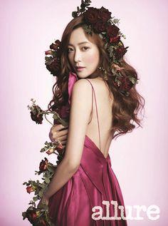 allure korea may 2015   Moon Chae Won and Kim Hee Sun in Allure Korea May 2012