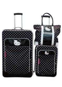 1822e4aa5 HELLO KITTY Hello Kitty Dots Luggage Set Sanrio Hello Kitty, Hello Kitty  Purse, Hello