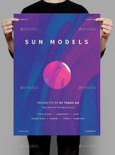 Sun Models Poster / Flyer Template PSD