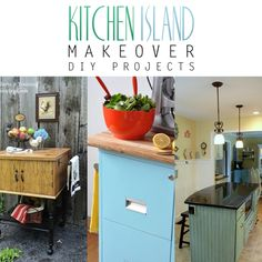 Kitchen Island Makeover DIY Projects - The Cottage Market
