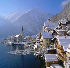 Hallstatt in Winter. Austria