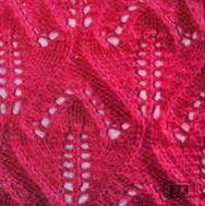 Tulip Pattern lace Knit Stitch.
