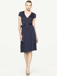Daniella Silk-Blend Wrap Dress - Black Label - I just bought this to wear to a summer wedding!! Very excited.