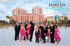 Hyatt Regency Clearwater Beach Wedding - Autumn and Justin - Elegant Pink Crystals - bridal party