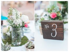 Table numbers, mismatched bottles, wood table numbers, DIY table numbers - Rachel Solomon Photography Blog | Stefanie and Michael – Vintage Garden Wedding at Arizona Historical Society | http://blog.rachel-solomon.com