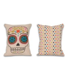 Sugar Skulls Throw Pillow | Daily deals for moms, babies and kids