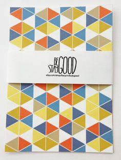 Set of 4 Triangle Postcards