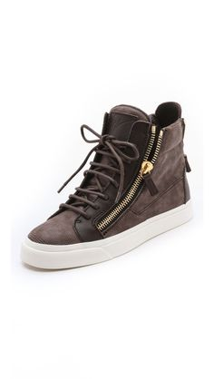 Giuseppe Zanotti London Double Zip Sneakers