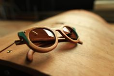 sun glasses made from recycled skate decks
