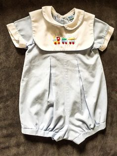 8d148afc7ee Check out this listing on Kidizen  Embroidered Train Romper via  kidizen   shopkidizen Mini