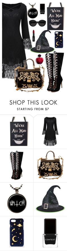 """its time for the monster bash!"" by elliewriter ❤ liked on Polyvore featuring WithChic, Dolce&Gabbana, Carla Zampatti, CHARLES & KEITH, Context and NYX"