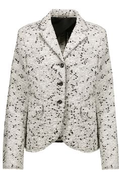 NINA RICCI Frayed Cotton-Blend Bouclé-Tweed Blazer. #ninaricci #cloth #blazer
