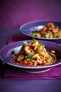 Fast and easy prawn and tomato linguine makes a healthy, tasty and satisfying meal.